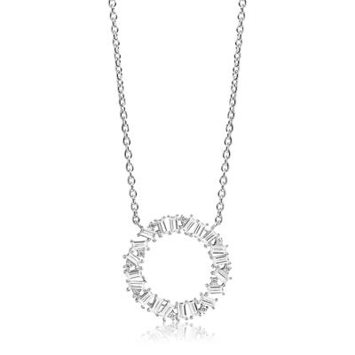 Buy Sif Jakobs Sterling Silver Antella Circolo Grande Necklace with White Zirconia