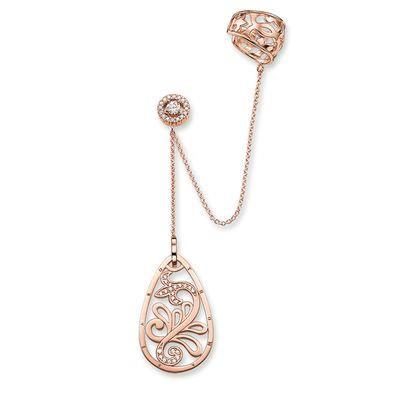 Buy Thomas Sabo Rose Gold Paisley Teardrop Earring Cuff