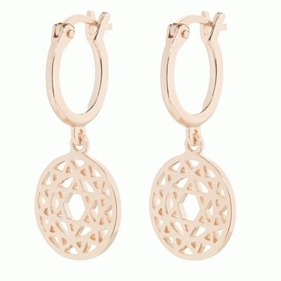 Buy Daisy Heart Chakra Rose Gold Drop Earrings