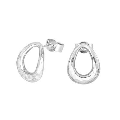 Buy Dower and Hall Sterling Silver Entwined Oval Studs