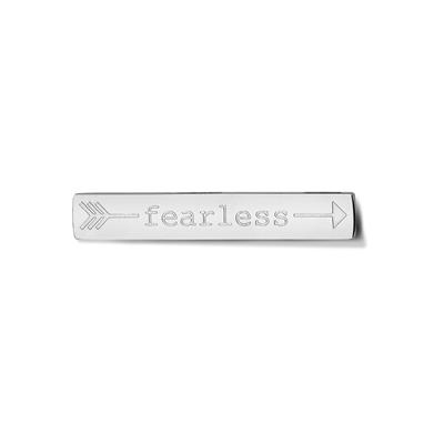 Buy Take What You Need Silver Toned Fearless Bar
