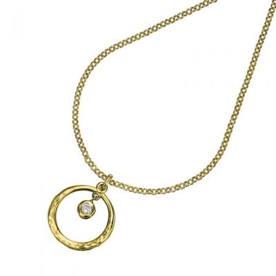 Buy Dower and Hall 18ct Gold and White Topaz Circle Dewdrop Necklace