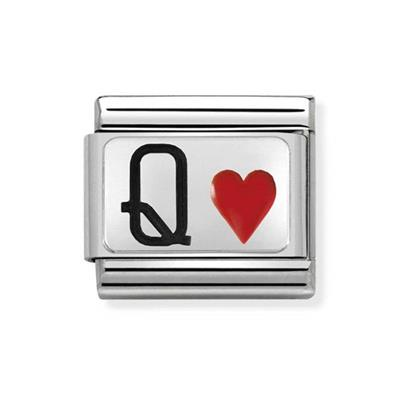 Buy Nomination Silver and Enamel Queen of Hearts