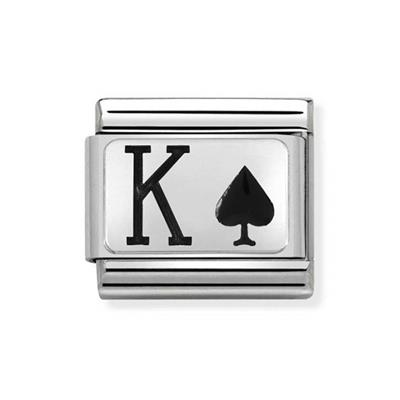 Buy Nomination Silver and Enamel King of Spades