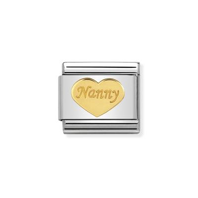 Buy Nomination Gold Nanny Heart Charm