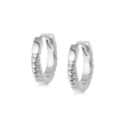 Buy Daisy Silver Rope Huggie Hoop Earrings