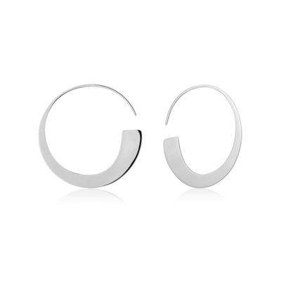 Buy Ania Haie Geometry Class Silver Hoop Earrings