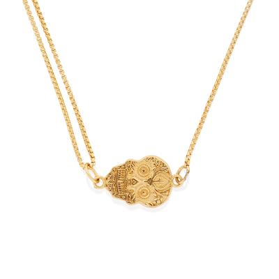 Buy Alex and Ani Calavera Precious Pull Chain Necklace in Gold