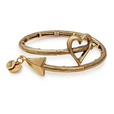 Buy Alex and Ani Cupid's Arrow Wrap Rafaelian Gold