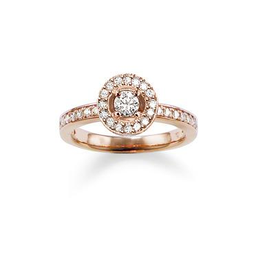 Buy Thomas Sabo GLAM & SOUL Rose-Gold Round CZ Ring Size 54