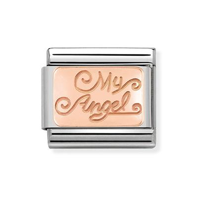 Buy Nomination Rose Gold 'My Angel' Plaque Charm