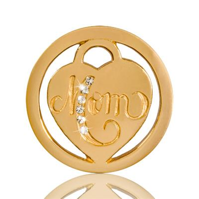 Buy Nikki Lissoni Gold Mom in Heart Coin 23mm