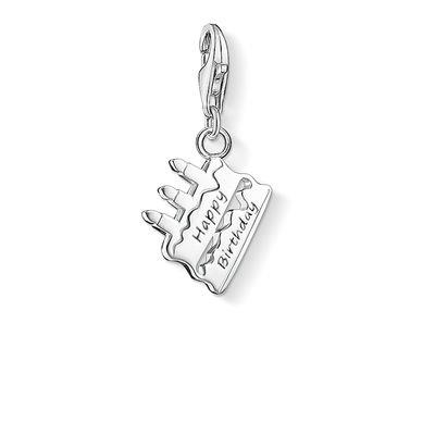 Buy Thomas Sabo Silver Birthday Cake Charm
