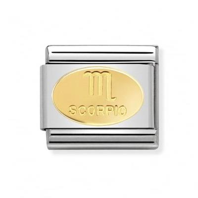 Buy Nomination Gold Scorpio Oval Zodiac Charm