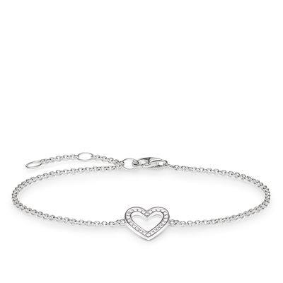 Buy Thomas Sabo CZ Open Heart Bracelet19.5cm