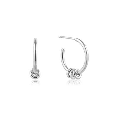 Buy Ania Haie Silver Minimalist Hoop Earrings