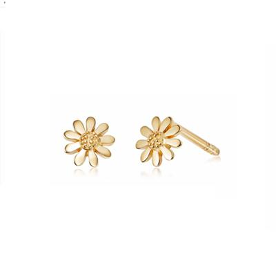 Buy Gold 5mm Daisy Vintage Earrings