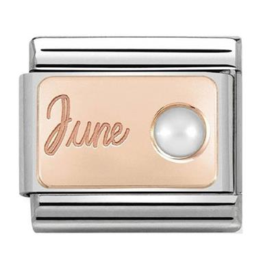 Buy Nomination Rose Gold June Pearl Charm