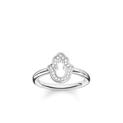 Buy Thomas Sabo Hand of Fatima Silver Ring Size 56