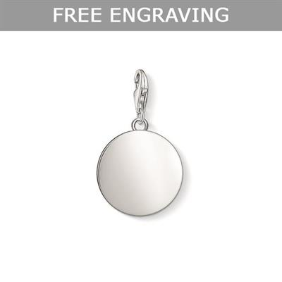 Buy Thomas Sabo Personalised Large Silver Disc Charm
