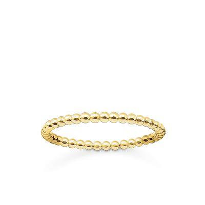 Buy Thomas Sabo Gold Slim Bobble Ring 54
