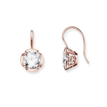 Buy Thomas Sabo Classic CZ Drop Earrings Rose-Gold Plated