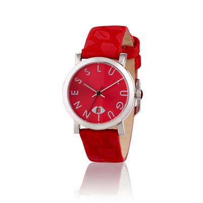 Red strap with Lip Print Glamour Collection