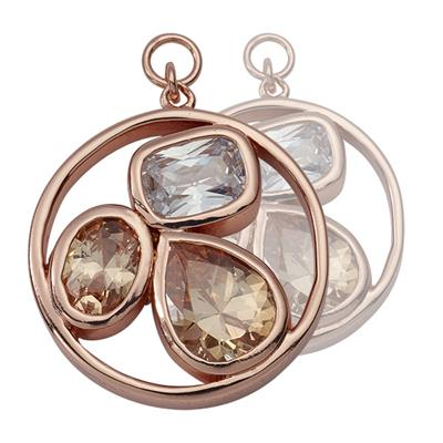 Buy Nikki Lissoni Rose Gold Simplicity Cystal 20mm Earring Coins