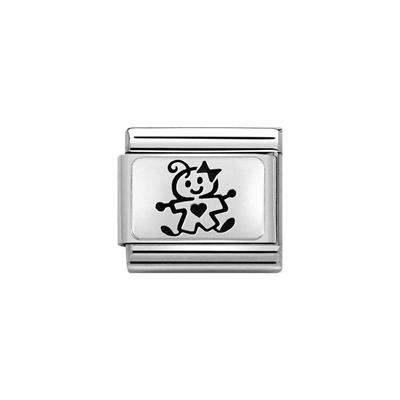 Buy Nomination Silver Baby Girl Charm