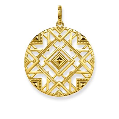 Buy Thomas Sabo Gold Africa Plait Pendant