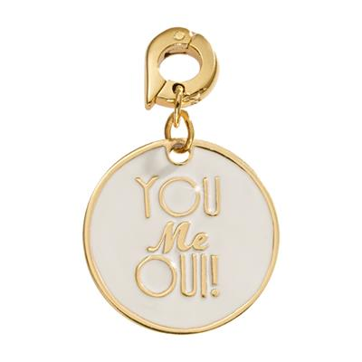 Buy Nikki Lissoni You Me Oui Gold Charm