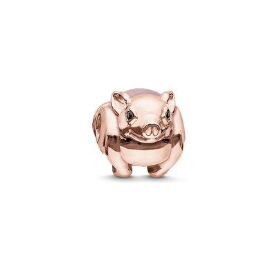 Buy Thomas Sabo Rose Gold Rose Quartz Piglet Karma Bead