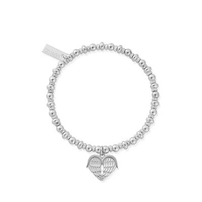 Buy ChloBo Silver Didi Sparkle Heavenly Heart Bracelet