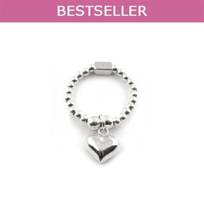 Buy ChloBo Small Silver Mini Heart Ring