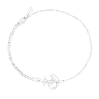 Buy Alex and Ani Anchor Precious Pull Chain Bracelet in Silver