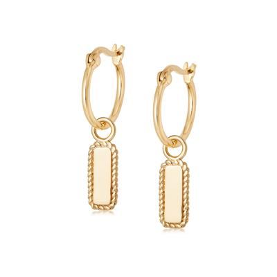 Buy Daisy Gold Rope Charm Earrings
