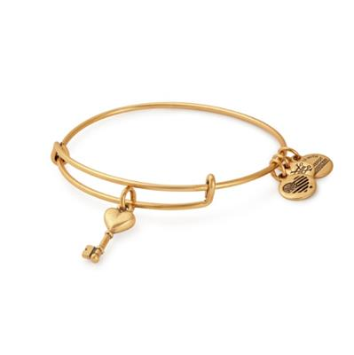 Buy Alex and Ani Key to Love Bangle in Rafaelian Gold