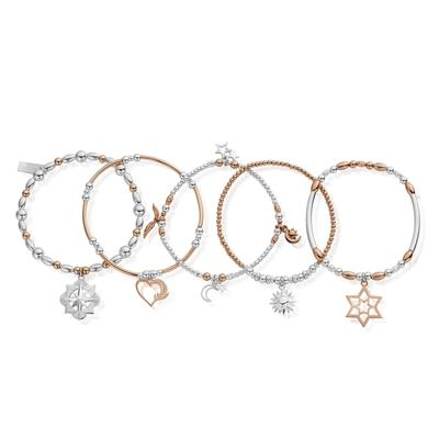 Buy ChloBo Rose Gold Silver Inner Spirit Set of 5