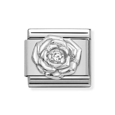 Buy Nomination Silver & CZ Rose Charm