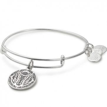 Buy Alex and Ani Godspeed Colour Infusion Bangle in Shiny Silver