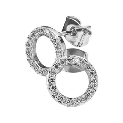 Buy Nikki Lissoni Silver Cubic Zirconia Stud Earrings 10mm