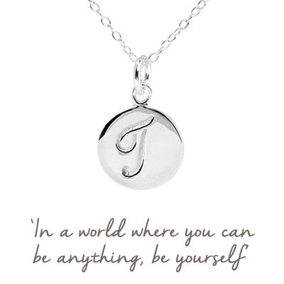 Buy T Mantra Initial Necklace