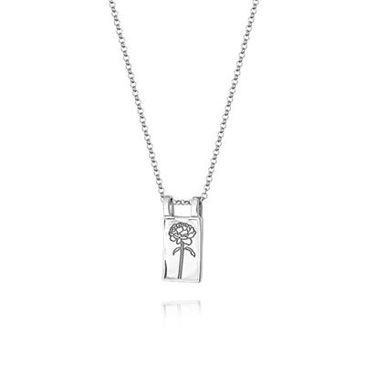 Buy Daisy Silver Rose Floriography Necklace