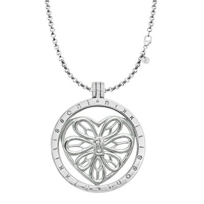 Buy Nikki Lissoni Peaceful Heart Silver Necklace