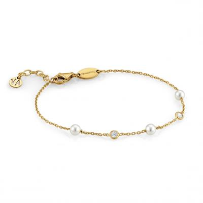 Buy Nomination Gold Bella 3 Pearl Bracelet