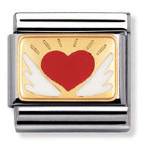 Buy Nomination Enamel Red Heart with Wings
