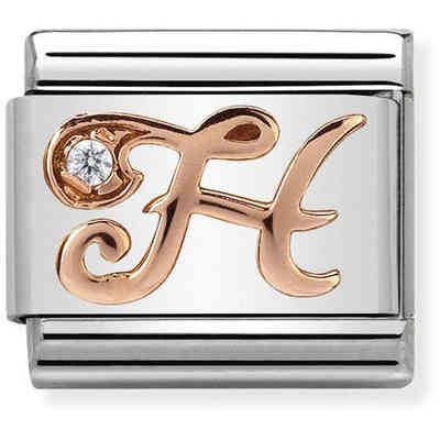 Buy Nomination Rose Gold CZ Letter H