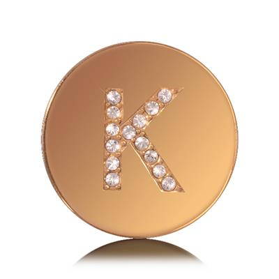 Buy Nikki Lissoni Letter K Small Gold Coin