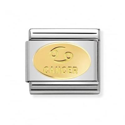 Buy Nomination Gold Cancer Oval Zodiac Charm