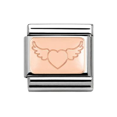 Buy Nomination Rose Gold Flying Heart